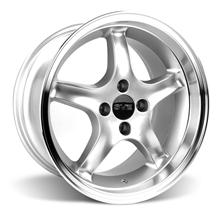 Mustang Cobra R Wheel - 17x9 Silver w/ Machined Lip (87-93)