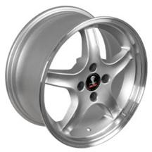 1987-93 Mustang Silver/Machined Cobra R Wheel - 17X9