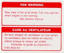 Mustang Fan Warning Decal (81-86)