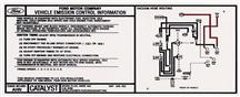 Mustang Emissions Decal, 5 Speed (1986) 5.0