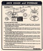 Mustang Hatchback Jack Instructions Decal (79-81)