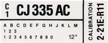 Mustang Engine Code Decal With A/C (1982)