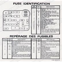 87-89 MUSTANG FUSE ID DECAL