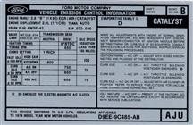 Mustang Automatic Emissions Decal (1979) 2.8