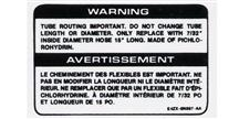 84-85 MUSTANG SVO TURBO HOSE WARNING DECAL
