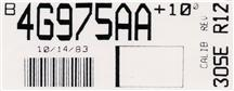 Mustang SVO Engine Code Decal (1984)