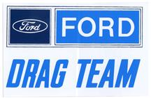 Ford Drag Team Decal 5""