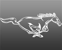 "Mustang 12"" Running Pony Decal RH White"