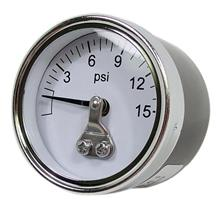 Carbureted Fuel Pressure Gauge 0-15 Psi