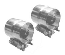 "Mustang Pypes Stepped 2.5"" Exhaust Clamps, Pair Stainless"