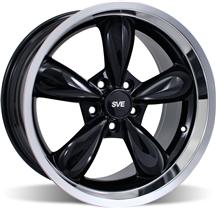 Mustang Deep Dish Bullitt Wheel - 18X10 Black (05-14)