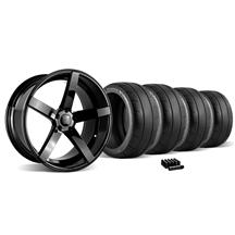 Mustang Rovos Durban Wheel & Tire Kit - 20x8.5/10 Gloss Black (05-14)
