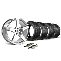 Mustang Roush Wheel & Tire Kit - 18x10 Chrome (07-09)