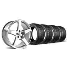 Mustang Roush Wheel & Tire Kit - 18x10 Chrome (05-06)