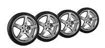 Mustang Roush Wheel & Tire Kit - 20x9.5 Hyper Black (10-14)