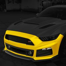 Mustang Roush Complete Front Fascia Kit Triple Yellow (2015)