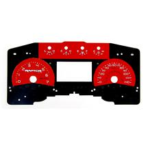 SVT Raptor Red Face Gauge Kit (11-14)