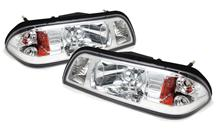 1987-93 Mustang Chrome One Piece Headlight Pair
