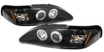 94-98 MUSTANG BLACK HALO LED PROJECTOR HEADLIGHT KIT
