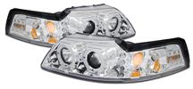 Mustang Halo LED Projector Headlight Kit Chrome (99-04)