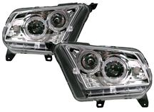 Mustang SVE Projector Headlights Clear Chrome (10-12)