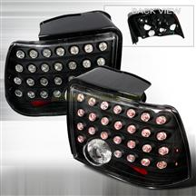 Mustang Black Led Tail Lights (99-04)