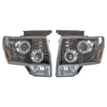 F-150 SVT Raptor Projector CCFL Headlight Kit Black Housing (10-12)