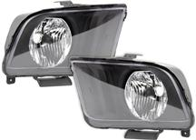 Mustang SVE Replacement Headlights Black (05-09)