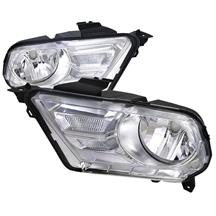 Mustang SVE Euro Style Headlights Chrome (10-12)
