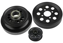 Mustang Steeda Underdrive Pulley Kit Black (01-04) 4.6