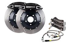 "Mustang Stop Tech 14"" Front Big Brake Kit w/ 4 Piston Calipers Black (05-14)"