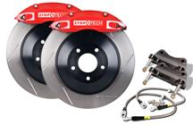 "Mustang Stop Tech Front Big Brake Kit, 14"" Rotors, 4 Piston Calipers Red (05-14)"