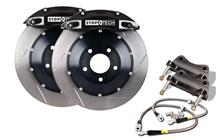 "Mustang Stop Tech 14"" Front Big Brake Kit w/ 6 Piston Calipers Black (05-14)"