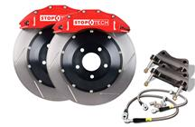 "Mustang Stop Tech 15"" Front Big Brake Kit w/ 6 Piston Calipers Red (07-14)"