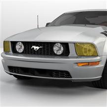 Mustang Yellow Headlight Tint (05-09)