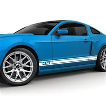 Mustang SVE 4.6L Logo Rocker Stripe Kit Gloss White (05-10)