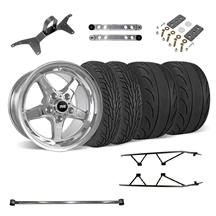 Mustang SVE Drag Wheel Track Pack 17x4.5/15x10  Chrome (05-14)