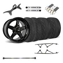 Mustang SVE Drag Wheel Track Pack 17x4.5/15x10 Black (05-14)