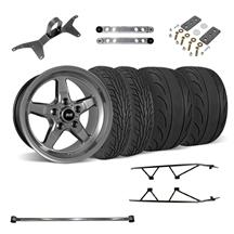 Mustang SVE  Drag Wheel Track Pack 17x4.5/15x10 Dark Stainless  (05-14)