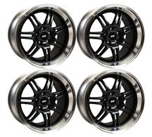 1994-04 Mustang SVE Black Anniversary Wheel Kit 17x9 and 17x10