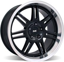 Mustang SVE Deep Dish Anniversary Wheel - 18x10 Black W/ Machined Lip (94-04)