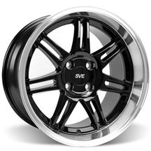 Mustang SVE Deep Dish Anniversary Wheel - 17x10 Black W/ Machined Lip (79-93)