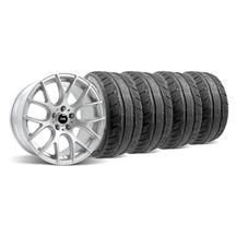 Mustang SVE Drift Wheel & Tire Kit - 19X9.5 Silver (05-14)