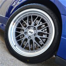 1994-2004 SVE Series One Wheel Anthracite with Mirror Lip Brushed Cap Chrome Rivets Kit 18x9.5 and 18x10.5 SN95, New Edge Exclusive Limited Quantities once they are gone they are gone