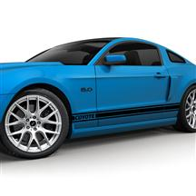 Mustang SVE Coyote Logo Rocker Stripe Decal Kit Gloss Black (11-14)