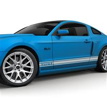 Mustang SVE Coyote Logo Rocker Stripe Decal Kit Silver (11-14)