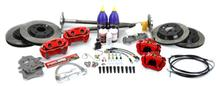 Mustang SVE 5-Lug Conversion Kit, 28 Spline Red (87-92)