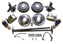 Mustang SN95 5 Lug Brake Conversion Kit W/ Rear Drums (79-93)