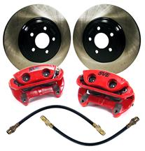 "Mustang SVE 13"" Cobra Style Front Brake Kit w/ Stock Rotors Red (94-04)"
