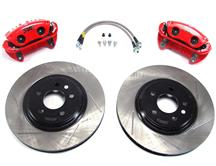 "Mustang SVE 13"" Cobra Style Front Brake Kit w/ Slotted Rotors Red (94-04)"